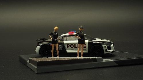 FigureWorkShop 1/64 Figures US Police Set Vol.2 2Pcs Set FWS164047