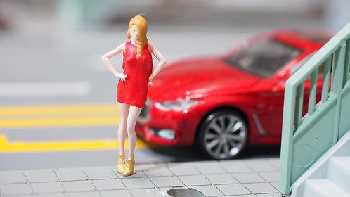 FigureWorkShop Remake 1/64 Figures Girl 1pcs set Red  FWS164017