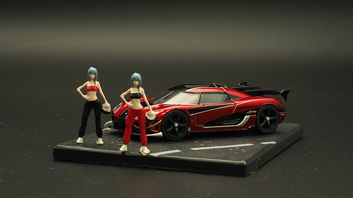 FigureWorkShop 1/64 Figures Girl Racer 2Pcs Set FWS164120