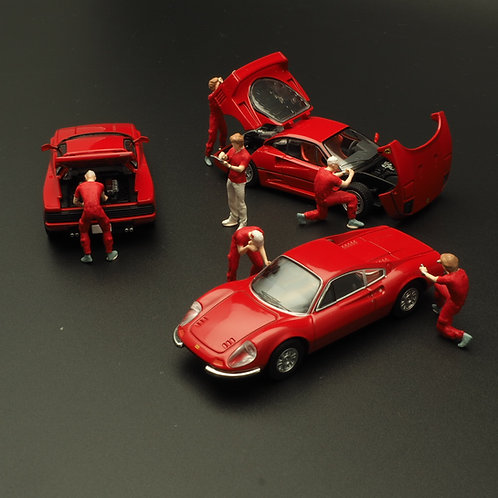 FigureWorkShop 1/64 Figures (Red Series ) 6 Pcs Set FWSR164001