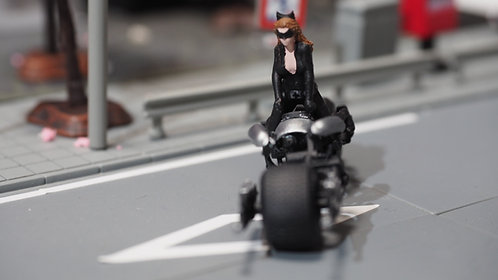 DreamsWorkShop 16+ 1/64 Figures Catwoman  Batpod 2pcs set  DWS164051