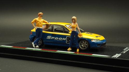 FigureWorkShop 1/64 Figures Racer Blue n Yellow 2Pcs Set FWS164071