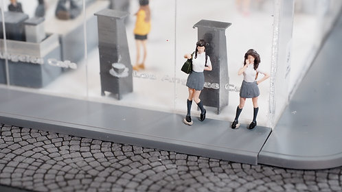FigureWorkShop 1/64 Figures High School Girl  2Pcs Set FWS164137