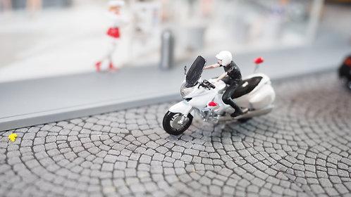FigureWorkShop 1/64 Figures Police With Bike  2Pcs Set FWS164153