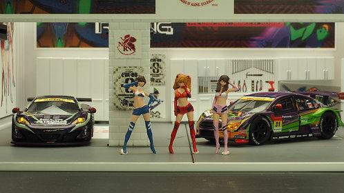 FigureWorkShop 1/64 Figures Racing Queen Vol.2 3Pcs  FWSA164053