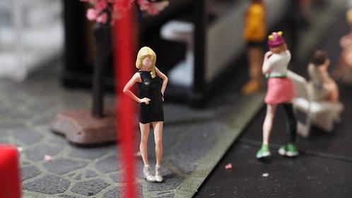 FigureWorkShop Remake 1/64 Figures Girl 1pcs set Black  FWS164016