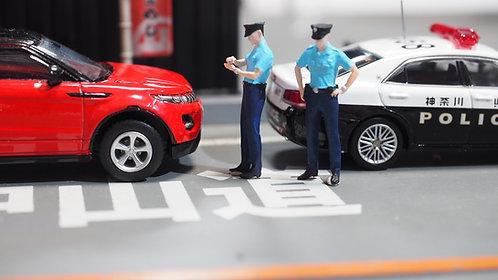 FigureWorkShop 1/64 Figures 2Pcs Japan Police set  FWS164024