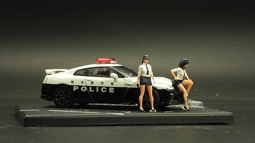 FigureWorkShop 1/64 Figures Japan Police 2Pcs Set FWS164117