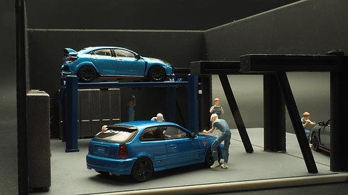 FigureWorkShop 1/64 Figures (Blue Series ) 6 Pcs Set FWSR164033