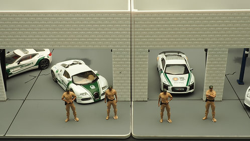 FigureWorkShop 1/64 Figures Police Series 4Pcs FWS164019