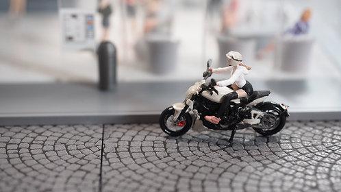 FigureWorkShop 1/64 Figures Girl With Bike  2Pcs Set FWS164145