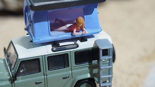 FigureWorkShop  1/64 Figures Girl Car Camping Tent (set B)  7 pcs set  F