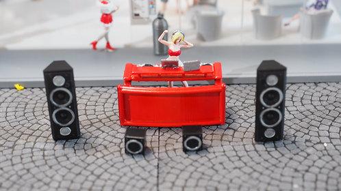 FigureWorkShop 1/64 Figures DJ Set (Red ) 6 Pcs Set FWSR164156
