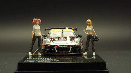 FigureWorkShop 1/64 Figures Racer Black Silver 2Pcs Set FWS164073