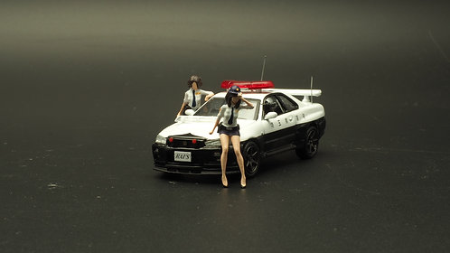 FigureWorkShop 1/64 Figures Japan Police Set Vol.2 2Pcs Set FWS164031