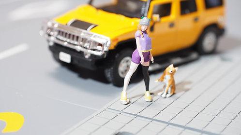 FigureWorkShop Pro Series   1/64 Figures 2Pcs Set FWS164012 Girl With Do