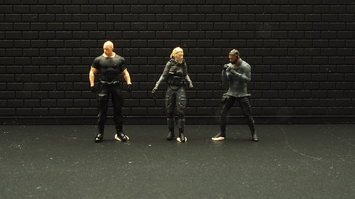 FigureWorkShop 1/64 Figures Movie Series 3Pcs set  FWSA164046 (D)