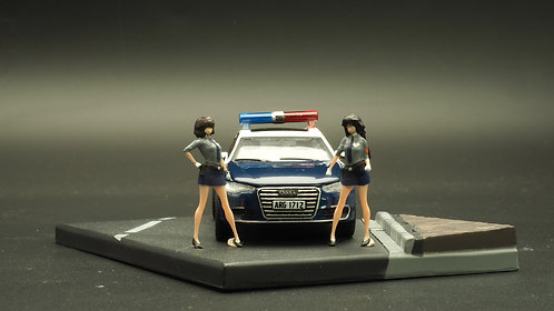 DreamsWorkShop 1/64 Figures Taiwan Police Anime Ver 2pcs set  DWS164006