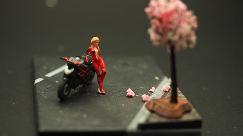 DreamsWorkShop 1/64 Figures 2pcs set  DWS164019 Girl with Bike
