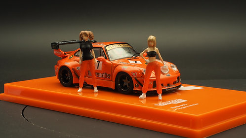 FigureWorkShop 1/64 Figures Racer Orange Black 2Pcs Set FWS164067