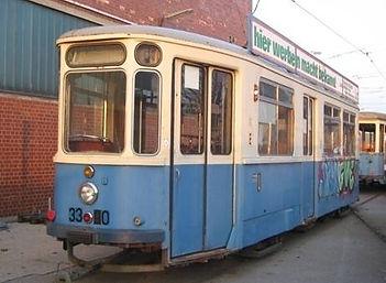 BEIWAGEN TYP m 3.64 m-wagen 3390 münchen tram trambahn