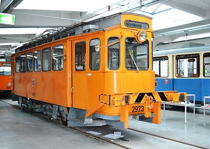 Der Bahnhofswagen G 1.8 Nr 2973 im MVG-Museum tram Müncen