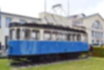 Triebwagen Typ E Nr. 532 vor dem MVG Museum München tram
