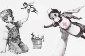 Lucrare de arta semnata de Banksy in beneficiul sistemului de sanatate din Marea Britanie