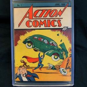Un exemplar rar cu prima aparitie a lui Superman s-a vandut cu o suma record