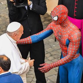 Spiderman în audiență la Papa Francisc / Foto