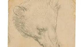 """Desenul """"Capul de Urs""""- semnat Leonardo da Vinci este scos la licitatie"""