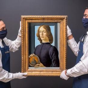 Record: Un portret rar pictat de Botticelli a fost vândut cu 92 de milioane de dolari