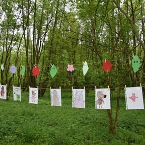 Pădurea, ca scenă de teatru pentru benzi desenate