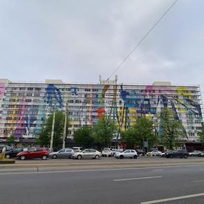 Cea mai mare pictură murală din România / Foto