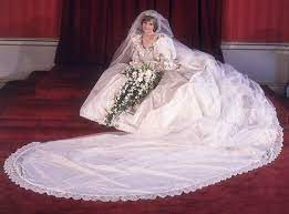 Rochia de mireasa a printesei Diana va fi expusa pentru prima oara