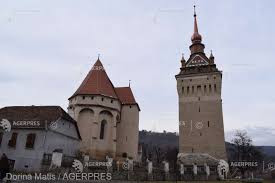 Turnul bisericii fortificate din Saschiz a fost restaurat
