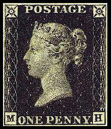 Primul timbru postal implineste 181 de ani