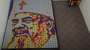 Patriarhul Daniel, din cuburi Rubik