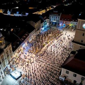 Imagini impresionante de la slujba din noaptea de Înviere, la Brașov / Foto