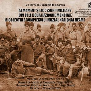 Expozitie cu armament si accesorii militare din cele doua razboaie mondiale