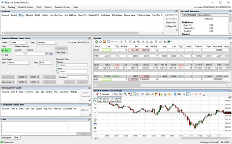 Blue Line Trader, provides software trading solutions where you can change layout for different trading solutions. Always in touch with our trade desk.