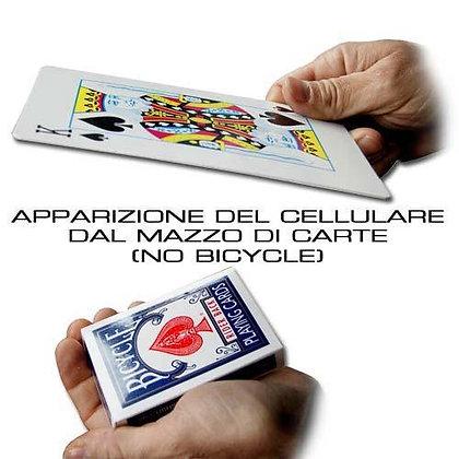 APPARIZIONE DEL CELLULARE DAL MAZZO DI CARTE  (NO BICYCLE)