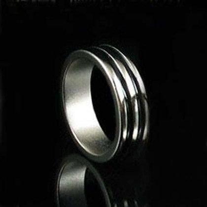 Anello pk magnetico doppia riga nera 18 mm - Neodimio strong