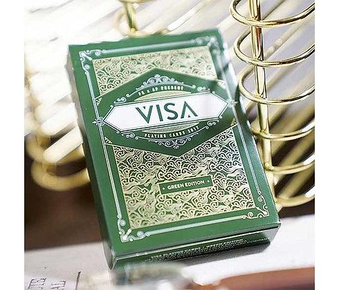 GREEN VISA PLAYING CARDS