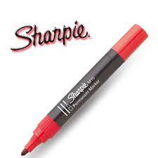 Pennarello Sharpie M15 rosso tondo