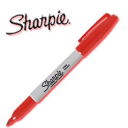 Pennarello Sharpie rosso punta fine