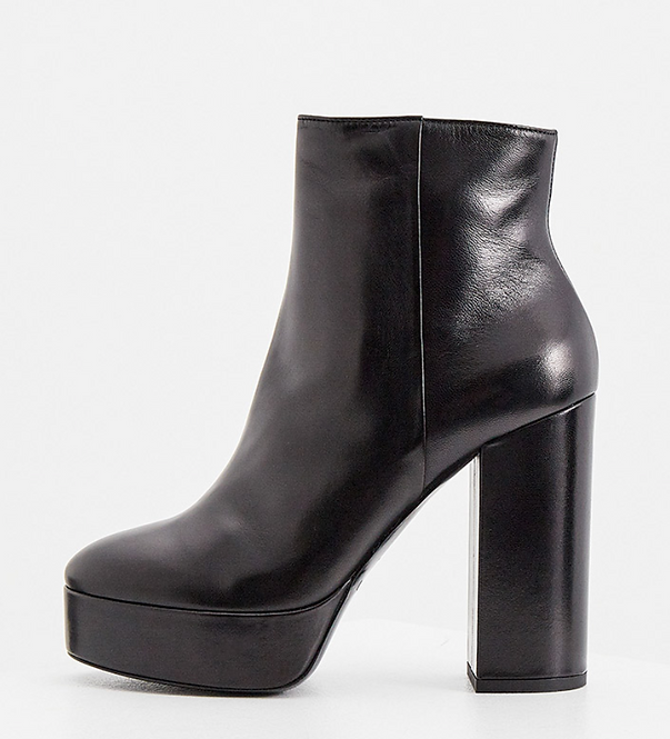 TWIN SET PLATFORM ANKLE BOOTS