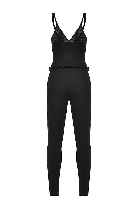PINKO SOIA WOOL AND CASHMERE JUMPSUIT