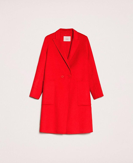 TWINSET DOUBLE WOOL CLOTH COAT