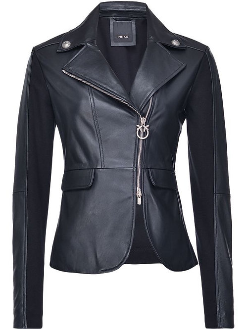 PINKO FITTED LEATHER JACKET